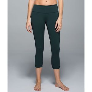 Lululemon 'Wunder Under' Reversible Crop Leggings